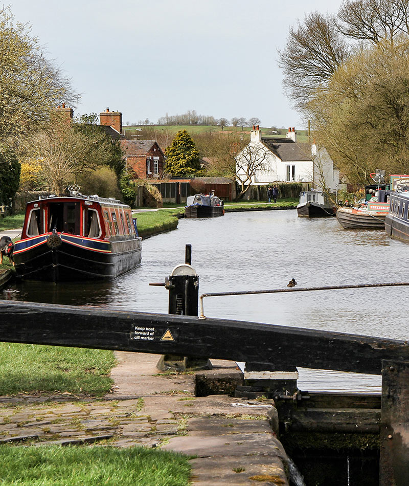 Stone canal staffordshire