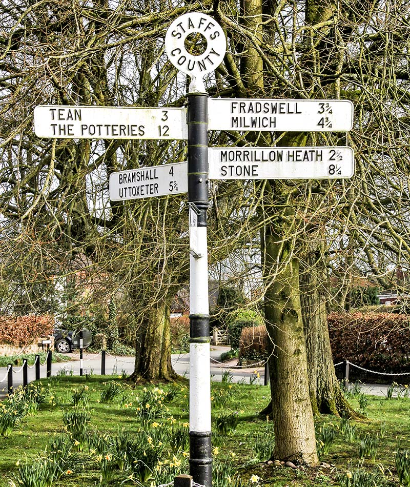 staffordshire signpost to woodview